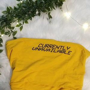 Yellow Graphic Tube Top